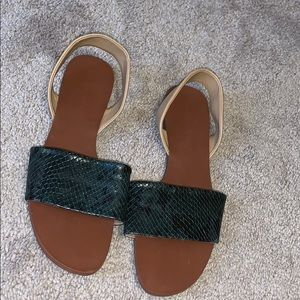 Gently Worn Zara Basics Collection Sandals SZ 38